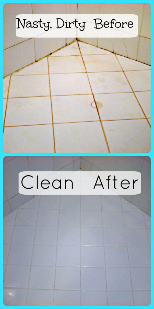 Dirty Shower Before and After Cleaning Raising 5 Girls-911MOM